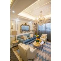 新古典欧式实木客厅沙发后现代港式轻奢美式沙发样板房间别墅沙发 组合
