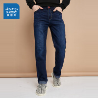 真维斯男装 冬装 舒适时尚雨纹牛仔裤