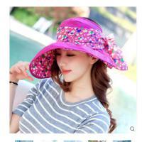 女士遮阳帽夏天 韩版潮防 紫外线沙滩防 晒太阳帽可折叠空顶凉帽