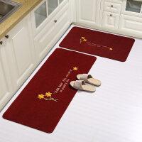 厨房地垫长条防油脚垫卫浴防滑门口吸水门垫地垫进门卧室家用地毯 40x60+40x120cm (实惠厨房2件套)