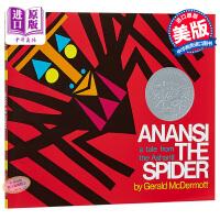 【中商原版】蜘蛛安纳西 英文原版 Anansi the Spider 1973年凯迪克银奖绘本