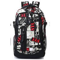 双肩包男休闲帆布背包潮中学生书包女学院旅行包包