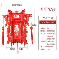 实木八角宫灯仿古灯笼电动旋转中式灯笼结典春节大红灯笼