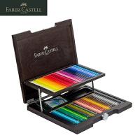 德国辉柏嘉Faber-Castell艺术家水溶性彩色铅笔水溶彩铅木盒120色