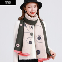 围巾女冬季时尚长款纯色两用披肩仿羊绒加厚保暖韩版百搭冬天时尚款