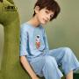 【2件3折:47.7元】小虎宝儿男童家居服套装纯棉2021儿童睡衣夏季薄款中大童潮