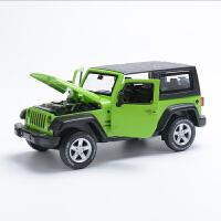 JEEP吉普牧马人汽车模型合金越野车儿童玩具回力男孩金属仿真车模