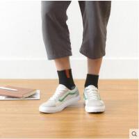 户外休闲袜子男中筒袜薄款男士长筒棉袜撞色运动吸汗透气棉袜潮