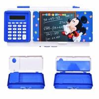 迪士尼铅笔盒 83077 儿童双面计算器 卡通密码笔盒 男女孩用