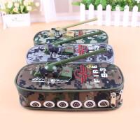 坦克文具盒创意迷彩吉普越野汽车笔袋带密码锁儿童铅笔袋