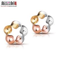 相思树 925纯银彩金圈圈爱耳钉 女韩国可爱镀K金银饰品 耳饰