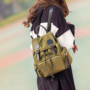 2017新款韩版明星同款百搭时尚轻便尼龙双肩包大容量军旅风背包潮