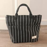 饭盒袋保温手提便当包零食包布袋圆形带饭包资料袋妈咪包