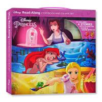 【现货】英文原版 迪士尼公主故事4册套装 朗读书+CD Disney Princess Read-Along Stor