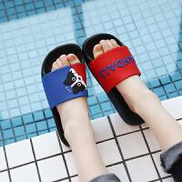 �和�拖鞋夏季秋季新款厚底小孩男女����浴室防滑可�劭ㄍ�鐾闲�家居日用生活日用浴室用品