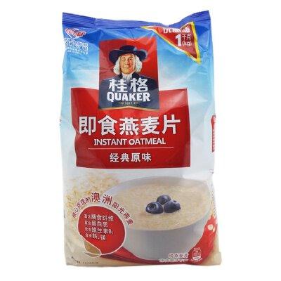 桂格(QUAKER) 即食燕麦片 经典原味 1000g 袋装 粗粮谷物 煮粥燕麦