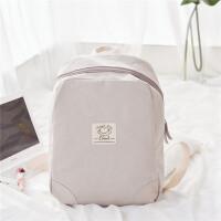 学生女韩版双肩包大学生书包帆布大容量15.6书包电脑包旅行背包潮