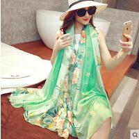 韩国沙滩披肩百搭春秋围巾女 户外 超长款女士围巾冬季丝巾