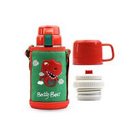 【限时秒杀】杯具熊(BEDDYBEAR)儿童保温杯带吸管316不锈钢双盖两用保温壶600ml 3D版-恐龙