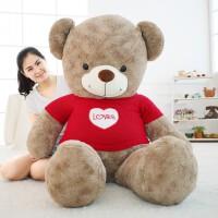 毛绒玩具熊泰迪熊抱抱熊公仔玩偶大号女生情人节礼物布娃娃抱枕萌