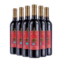 葡金 鸡年喜庆 巴塞罗斯半干红葡萄酒750ml 整箱 建发原瓶进口红酒