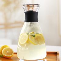 北欧风家用耐热高温玻璃冷水壶套装北欧创意凉白开水杯冰水瓶扎壶
