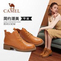 Camel/骆驼女鞋 2018冬季新款摩登时尚短靴休闲英伦耐磨女靴子