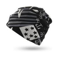 2018新款冬天的无边帽子男户外骑行套头帽时尚加绒保暖帽男女毛线冒子头巾 L(58-60cm)