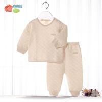 贝贝怡男女童保暖内衣套装秋冬宝宝两件套婴儿秋衣秋裤BB8087