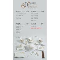 【家装节 夏季狂欢】碗碟套装家用欧式简约骨瓷餐具景德镇陶瓷碗盘筷子组合