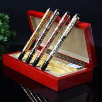 英力佳商务钢笔办公文具签字笔金属镂空笔身