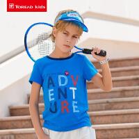 【2.5折价:43元】探路者儿童T恤 19春夏户外吸湿排汗男童短袖T恤QAJH83006