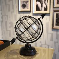 欧式地球仪书房工艺品摆件 家居室内玻璃桌面办公室装饰品摆设 欧式地球仪