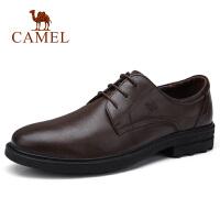 camel/骆驼男鞋 秋季新款男士商务正装皮鞋牛皮休闲系带办公皮鞋