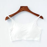 吊带文胸背心罩杯一体女裹胸带胸垫防抹胸短款无钢圈哺乳内衣
