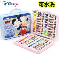 迪士尼印章水彩笔36色套装儿童幼儿园可水洗彩色涂画笔24色学生用