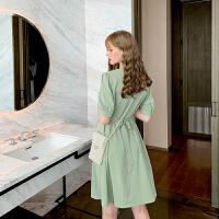毛菇小象红色连衣裙2019新款很仙的法国小众桔梗裙智熏裙收腰裙子