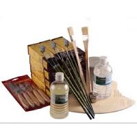 马利油画工具套装 油画颜料套装 油壶+油画笔+调色板+刮刀+松节油 美术用品