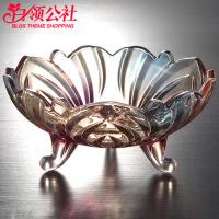 【1件5折】白领公社 水果盘 欧式现代创意水晶玻璃果盘客厅家用大号简约干果盘糖果盘水果盘子