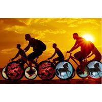 自行车动漫风火轮充电钢丝灯山地车配件 DIY编程辐条灯