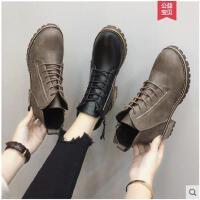 冬季新款加绒马丁靴女英伦风学生韩版百搭女靴chic短靴子女鞋