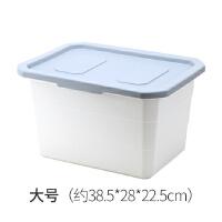 20191128170033969塑料收纳箱玩具整理箱家用有盖书本零食衣柜收纳盒加厚床底储物箱 灰色