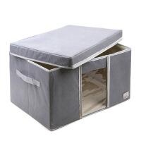 泡泡料收纳箱有盖大号折叠衣柜整理箱子 有盖带透明视窗 百纳箱棉被袋布艺储物箱