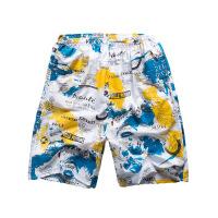 宽松室内外休闲居家短裤子度假旅游20夏季印花男士五分沙滩裤 号色地图
