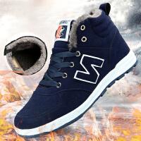 NBanao男鞋秋冬季加绒保暖男士棉鞋运动鞋男加厚加棉N字高帮板鞋青年跑步鞋
