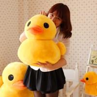 可爱大黄鸭毛绒玩具女生娃娃公仔玩偶黄小黄鸭子睡觉抱女孩