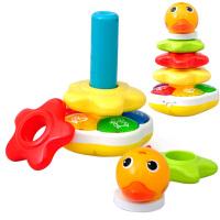 音乐彩虹套圈叠叠乐6-12个月婴儿玩具益智一岁宝宝1-2-3岁