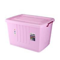 大号250L加厚滑轮收纳箱塑料衣服被子整理箱书本厨房用品储物箱
