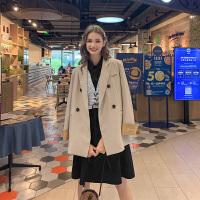 MG小象小西装外套女韩版宽松2019新款法式复古西服设计感小众上衣
