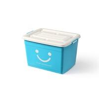 2019新款 加厚透明塑料整理箱特大号储物箱收纳箱加厚加盖衣服卫浴杂物箱子 170升(有6个滑轮):72*52*44厘